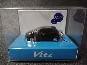 TOYOTA Vitz LED Light Keychain White Pull Back Mini Car Not Sold in stores Japan