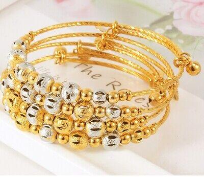 18k Gold Bracelet Bangle Women/'s Snake Arm Wrap Adjustable w Gift Pkg D462