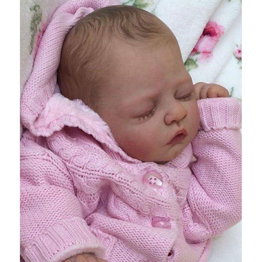 5X 20  NON VERNICIATA Reborn Kit Baby Doll Morbido Silicone HEAD 3 4 gambe braccia completo