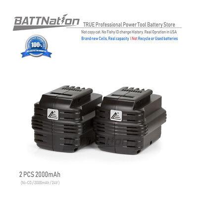 2 x 24V 24 VOLT Ni-Cd Battery for DEWALT DW0242 DW0240 2.0AH