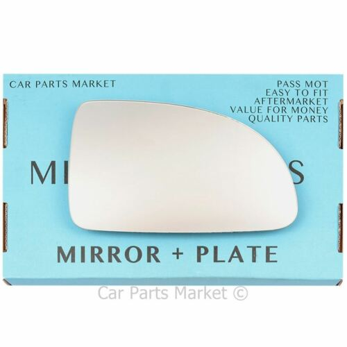Right Driver side Wing door mirror glass for Kia Rio 2003-2005 plate