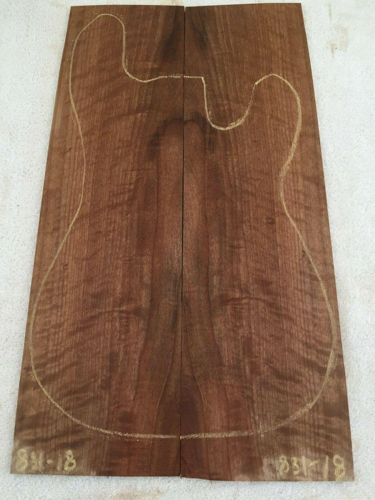 English Walnut book match set guitar tone wood .27 x 12-14 x 22.5    831-18