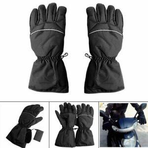 Schwarz-Motorrad-Waermer-Beheizbare-Motorradhandschuhe-Handschuhe-Wasserdicht-Neu