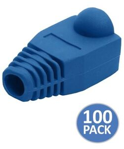 50 pcs RJ45 Network Cable Connector Cover Caps Boot Green 50 Pack Cat 5//5e//6