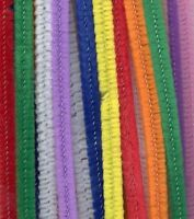Multi Coloured Pipe Cleaners Chenille Craft Stem 300mm x 4mm Pack Of 100 Bright
