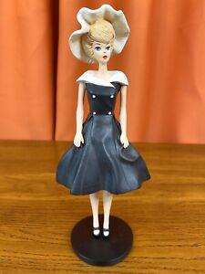 Barbie 1962 After Five Danbury Mint Figurine w/ Box - 1993 Mattel - Black Dress