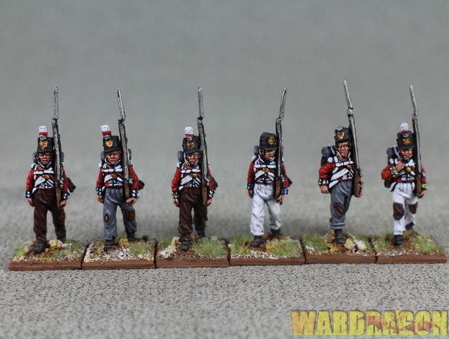 Wds Pintado británico BH 70 alza infantería, centro de las empresas, marchando 1808-14 r8