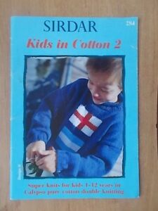 SIRDAR-KNITTING-KIDS-IN-COTTON-DK-x-20-DESIGNS-CARDIGANS-HATS-SWEATERS-ECT