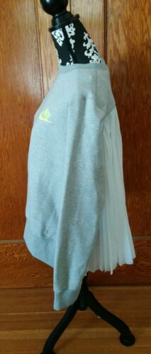 Lab mujer o Xxs Sacai para 325 capucha Tama con Gris Nuevo Sudadera X Nike qtFFS6