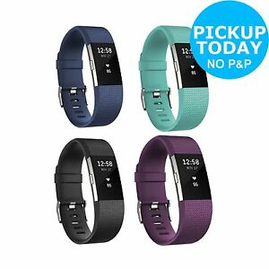 Fitbit Charge 2 Heart Rate + Fitness Wrist Band - Black/Teal/Blue/Purple - Argos