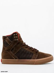 55d2a0b41f39 Image is loading NEW-SUPRA-SKYTOP-BROWN-GUM-08173-262-SKATEBOARDING-