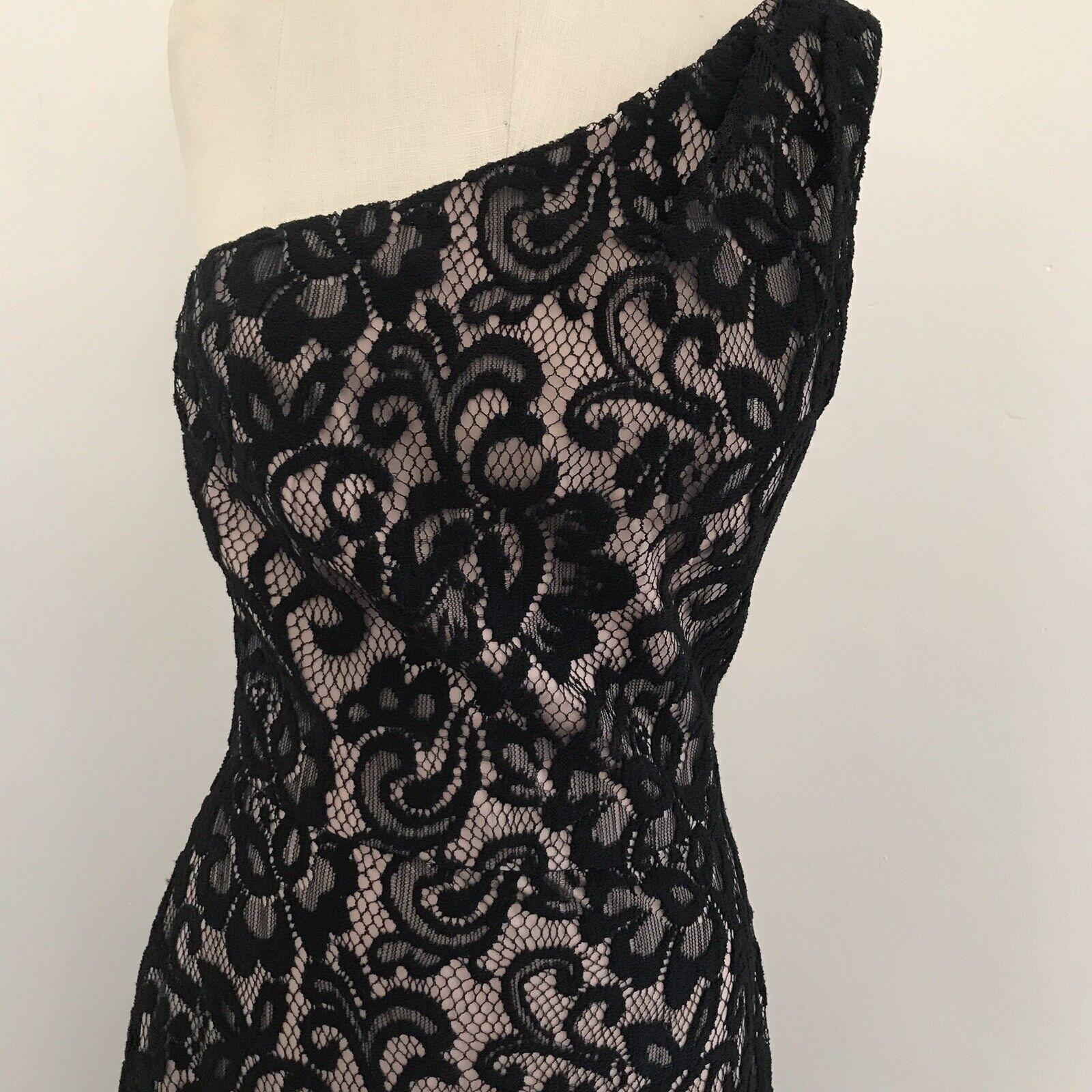 Dessy Collection Gown Black Lace One Shoulder Dre… - image 2