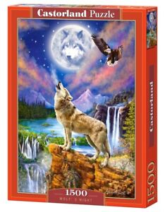 Castorland C-151806-2 - Wolf's Night - Puzzle 1500 Teile - Neu