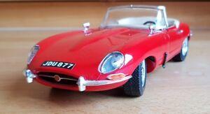 Bburago-1-18-Diecast-3016-Jaguar-E-Type-Cabriolet-Red-Roadster-MUST-READ-DESC