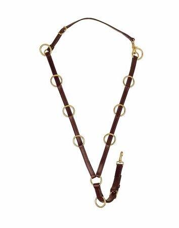 Tory  Leather 10 Ring Training Martingale  fashionable