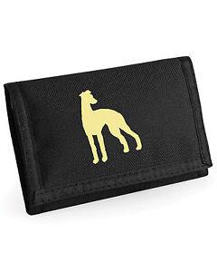 Wallet + Dog Silhouette Greyhound Whippet Wolf / Deerhound Borzoi Afghan Saluki