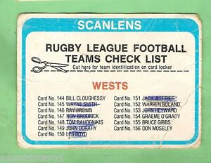 1979-WESTERN-SUBURBS-MAGPIES-RUGBY-LEAGUE-CHECKLIST-CARD-MARKED