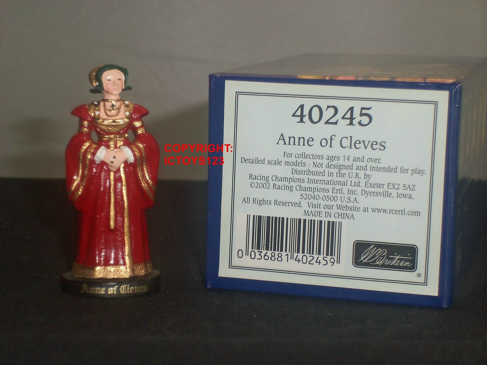 BRITAINS 40245 HENRY VIII WIFE ANNE OF CLEVES METAL CIVILIAN CHARACTER FIGURE