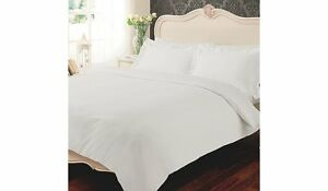 100-Egyptian-Cotton-400-TC-Duvet-Cover-Bedding-Bed-Set-White-Fitted-Flat-Sheet