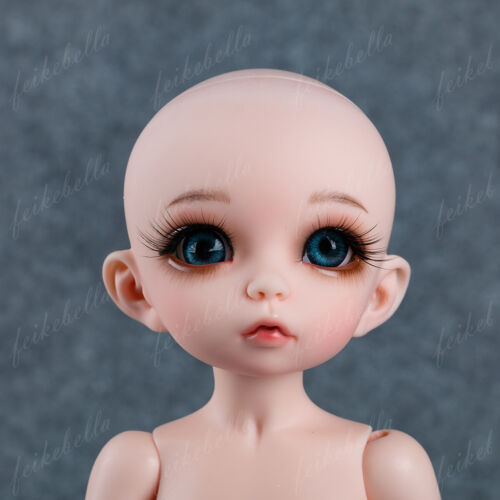 Face Makeup 1//6 BJD SD Dolls Mini Pretty Girl Resin Bare Doll Random Eyes
