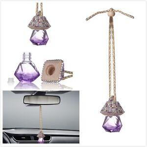 purple bling car accessories mirror hanging diamond crystal bottle for girls ebay. Black Bedroom Furniture Sets. Home Design Ideas