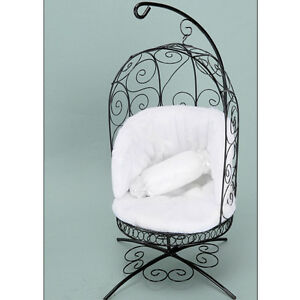 Dollmore Black//Black MSD chair BJD 1//4 Scale Bird Cage Style Iron Chair