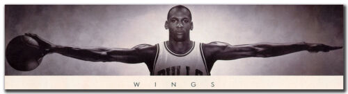 "Michael Jordan Wings Vintage Basketball Sport Silk Poster 20x77/"" Room Wall Decor"