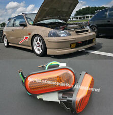 For 92-95 Civic Fender Replacement JDM AMBER DOME Side Marker Lights Lamp Si EG6