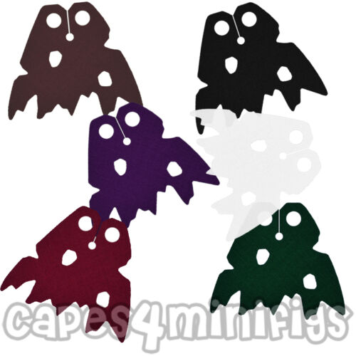CAPE ONLY 2 CUSTOM tattered capes for Lego Chima minifigure eg King Crominus