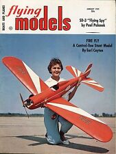 Flying Models Magazine * Jan 1959 * Early RC Radio Control Airplanes Boats