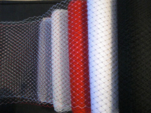 "White Ivory Black Grey Red 9/"" Wedding Birdcage Veiling Millinery Hat Veil Net"