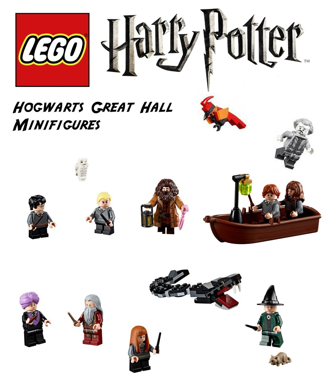 Lego Harry Potter  Hogwarts Great Hall minifigs
