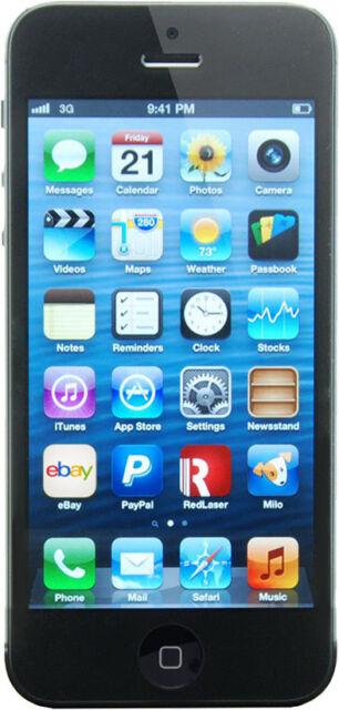 Apple iPhone 5 - 16GB - Black & Slate (Unlocked) A1428 (GSM) fair cosmetic