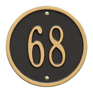 Whitehall-Products-Round-Circle-Address-Plaque-House-Number-sign-6-034-Wall-Custom