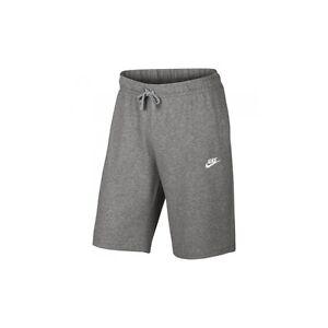 21abb5401 Nike Mens N S W JERSEY CLUB SHORTS 100% Cotton Dark Grey   White