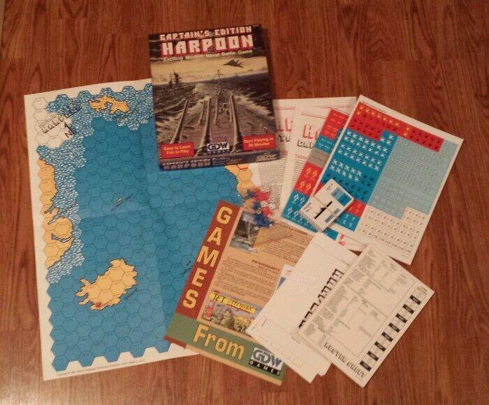 Harpoon  Captain's edizione (Tabletop gioco, 1990) GDW giocos  navy UNPUNCHED RARE  Spedizione gratuita al 100%