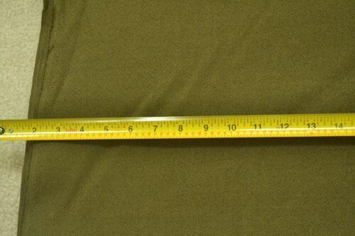 "By-the-Half-Yard 60/"" Wide Suiting//Slacks M2902 Olive Polyester Herringbone"