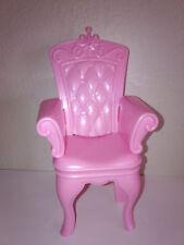 Swan Lake Castle Pink Princess Throne Chair Barbie Furniture