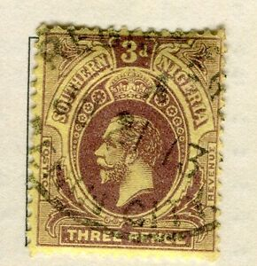 SOUTHERN NIGERIA; 1912 early GV issue fine used 3d. value