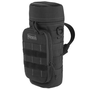 """MAXPEDITION 12""""X5"""" LARGE PADDED WATER BOTTLE HOLDER POLICE HYDRATION POUCH BLACK"""