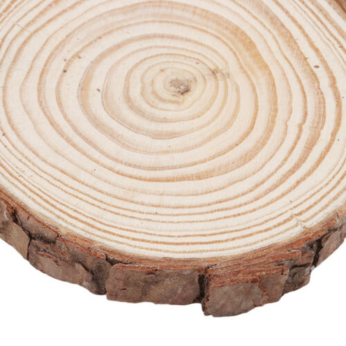 1 Piece Round Wood Slices Circles with Tree Bark Log Discs for DIY Crafts G