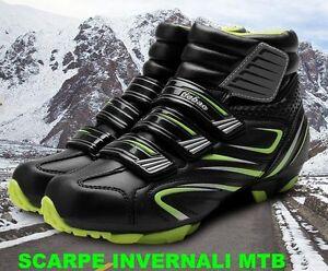 sistema SPD Scarpe Ciclismo MTB Invernali Cycling Shoes