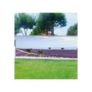Brise vue déco imprimé pour jardin, balcon ou terrasse Lavandes ...