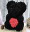 thumbnail 4 - 25cm 10inch Flower Rose Bear Gift Box option Mother's Day Valentine Anniversary
