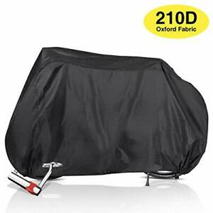 210D Oxford Waterproof Bike Cover Bicycle Cycle Storage with Buckle and Lock