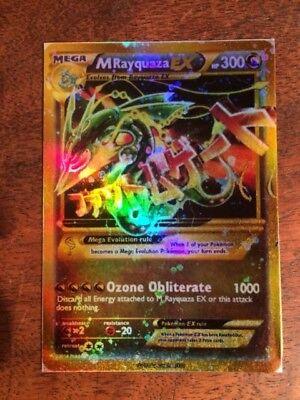 LEGGI LA DESCRIZIONE M Rayquaza EX Mega Full Art Shiny ORICA Pokemon