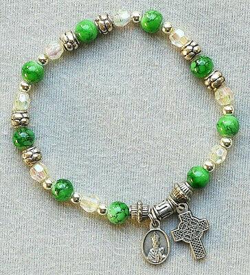 Stretch Bracelet With St Patrick Medal