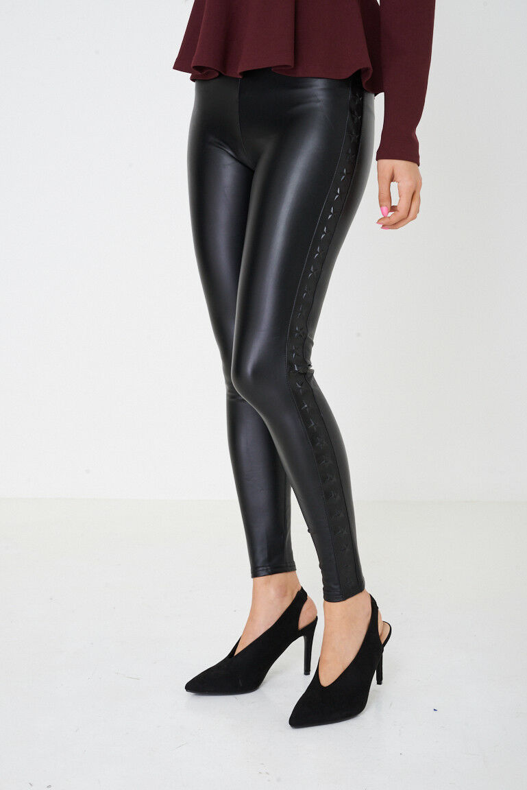 4920d3fb03e4e Ladies Womens Leather Look Super Skinny Fit Jeggings Jeans Leggings - 8 10  12 14