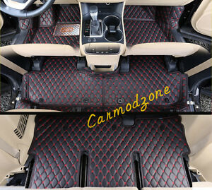 leather interior car floor mats carpets for toyota sienna xl30 2011 2016 xl30 ebay