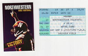 1992 NOTRE DAME Northwestern SOLDIER FIELD NCAA College ...